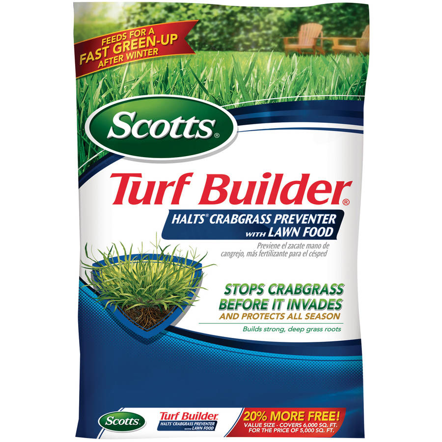 Scotts Turf Builder Halts Crabgrass Preventer with Lawn Food, 15,000 sq. ft