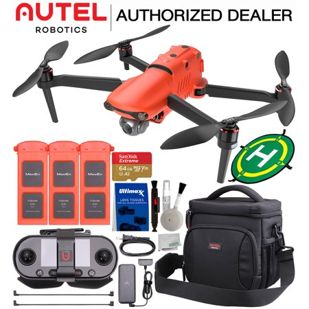 Autel Robotics EVO II (EVO 2) 8K Foldable Quadcopter Drone with 3-Axis Gimbal with 3-Battery Ultimate Accessory Bundle