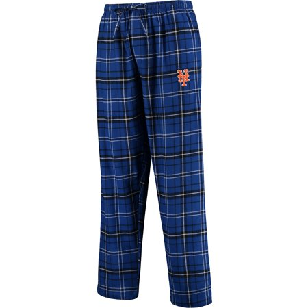 New Plaid Pants - New York Mets Concepts Sport Ultimate Plaid Flannel Pants - Royal/Black