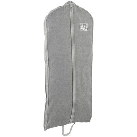 Better Homes & Gardens Gray Extended Length Charleston Garment Bag, 4 Count