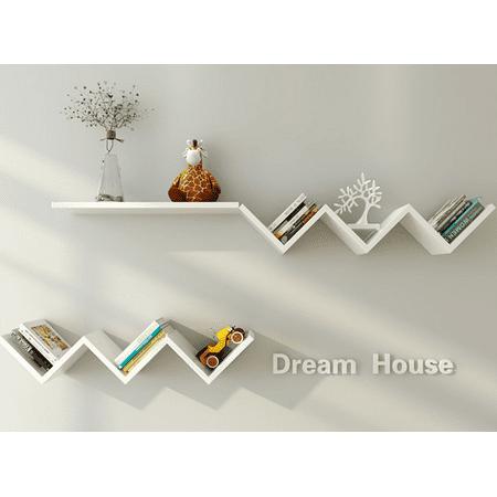 Wall Book Shelf Fashionable Creative Floating Rack Organizer Hanging Bookshelf Home Decor