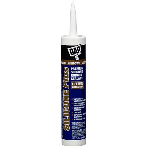 Dap 08771 10.1 oz Clear Silicone Plus Premium Silicone Rubber Sealant