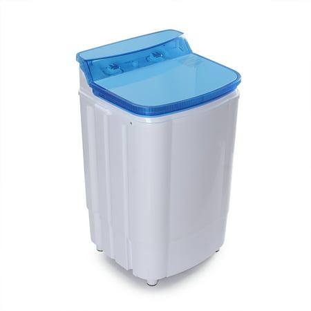 Dry Wash System - DELLA Portable Washing Machine Single Tub Spin Dry Built in Pump 6.5KG 14 LBS Capacity
