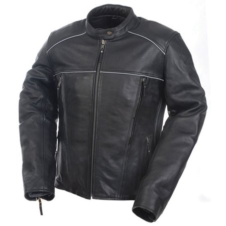 ded8f6763f8 Mossi - Camoplast 20-219-18 Womens Premium Leather Jacket Size 18 Black -  Walmart.com