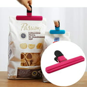 Juslike 9 Pcs Chip Bag Clips Grocery Store Bag Clips Food Bag Clips Plastic Clips for Coffee Potato and Snack Bags (Assorted, 2 Size)
