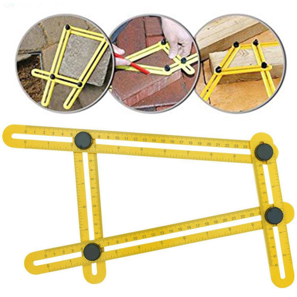 Universal Angularizer Ruler Multi Angle Measuring Tool Ultimate Yellow Template by Calves LTD