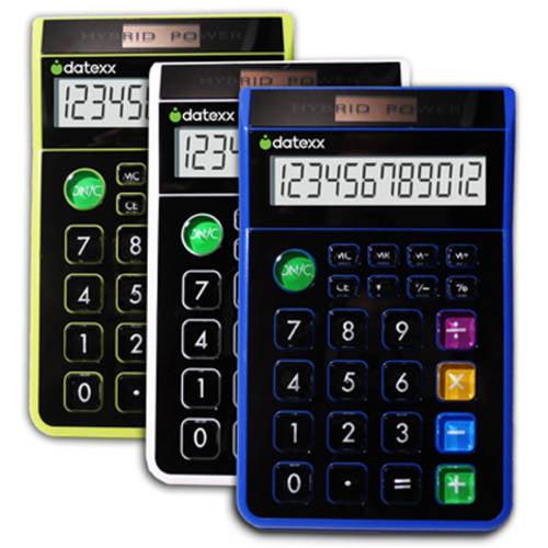 Datexx Hybrid Desk 8-Digit Calculator, 3-Pack