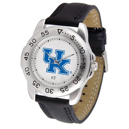 "Kentucky Wildcats NCAA ""Sport"" Mens Watch (Leather Band)"