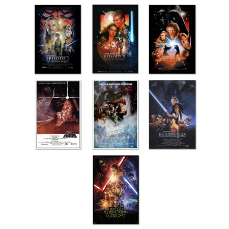 - Star Wars: Episode I, II, III, IV, V, VI & VII - 7 Piece Movie Poster / Print Set (Regular Style Designs) (Size: 27