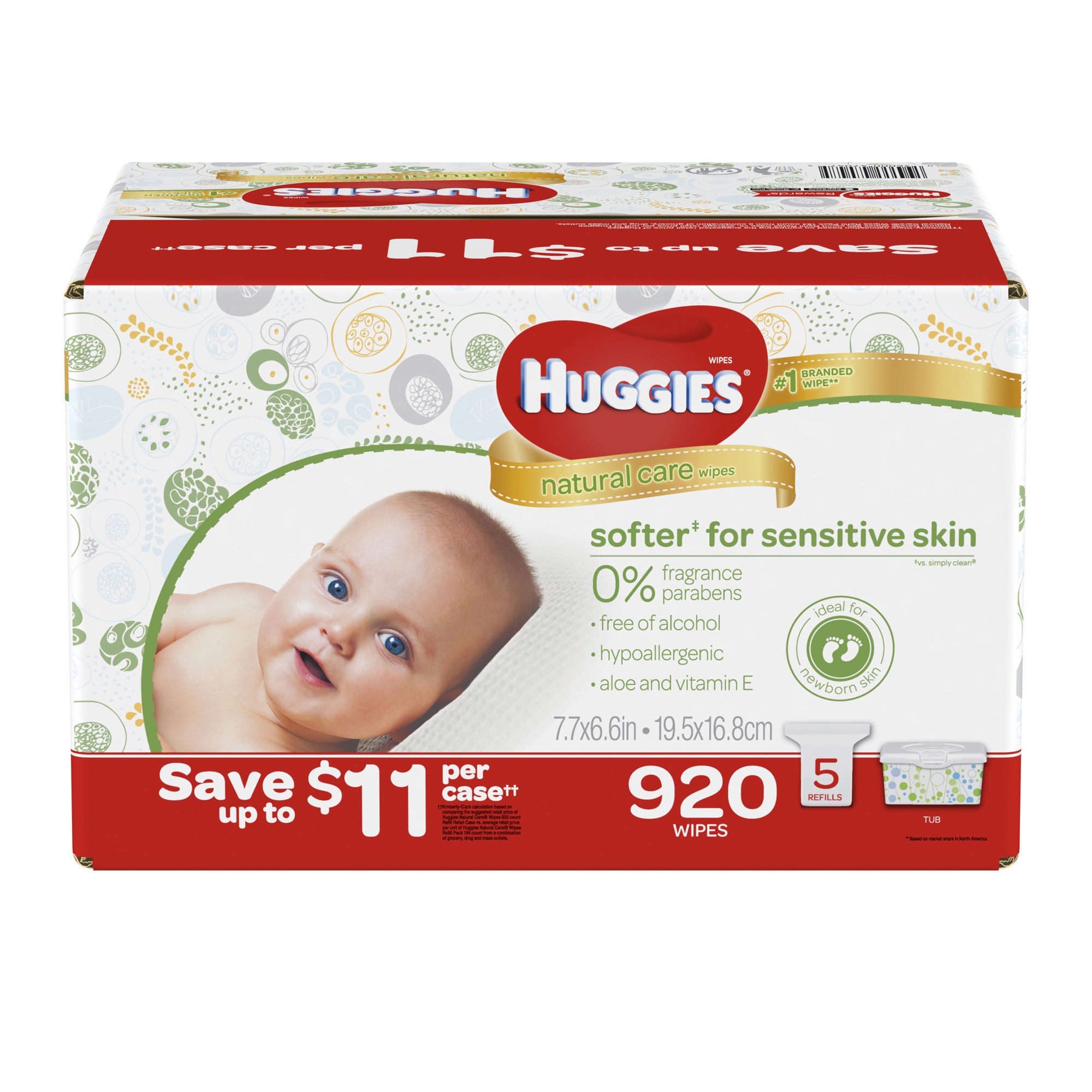 Huggies Natural Care Unscented Baby Wipes Refill Pack, 920 ct. (baby wipes Wholesale Price by