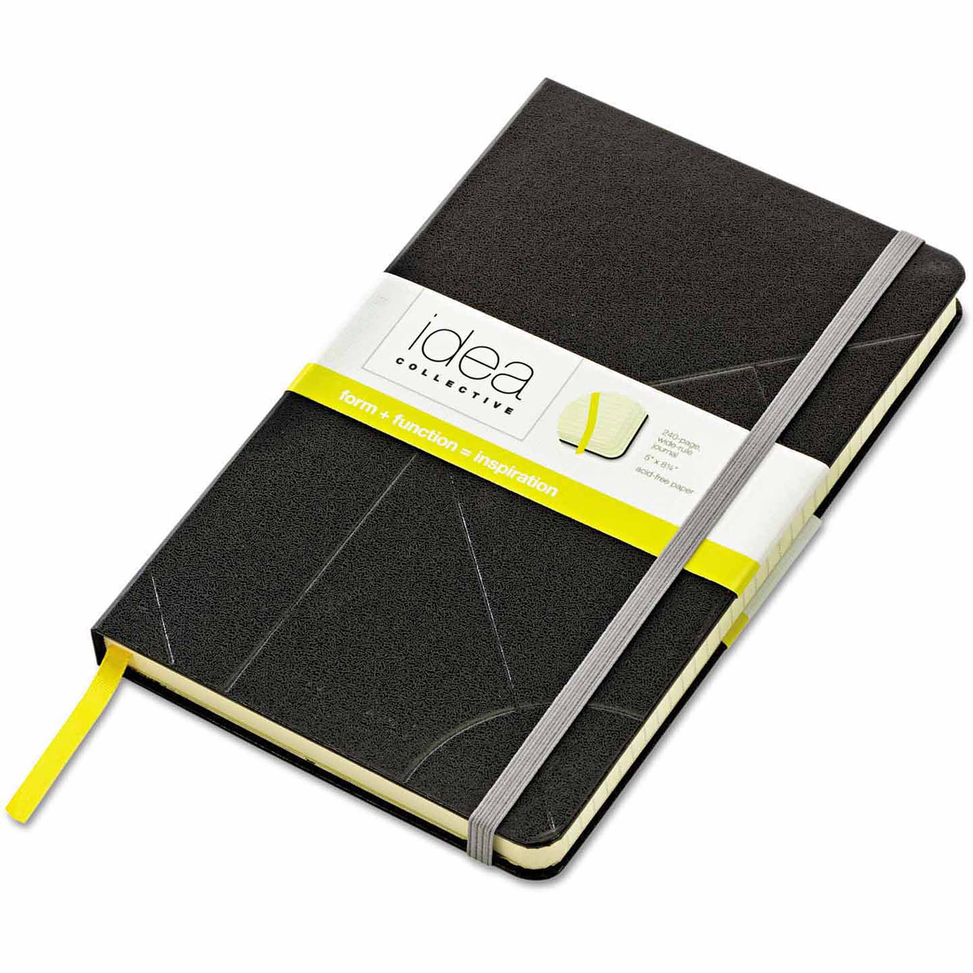 "TOPS Idea Collective Journal, Hard Cover, Side Binding, 8-1/4"" x 5"", Black"