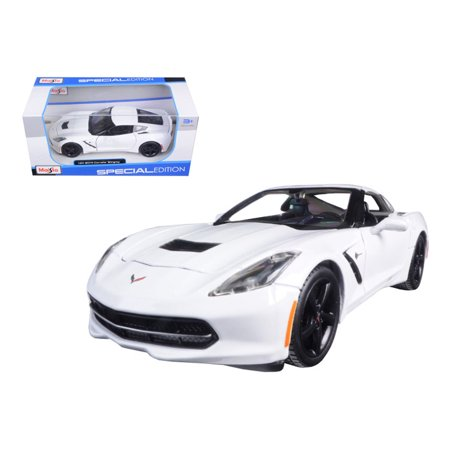 78 Corvette Pace Car (2014 Chevrolet Corvette C7 Stingray White 1/24 Diecast Model Car by Maisto)
