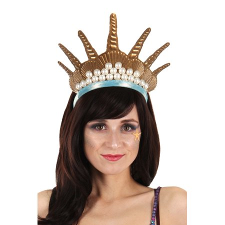 elope Gold Mermaid Costume Crown Headband for - Do It Yourself Clown Costume