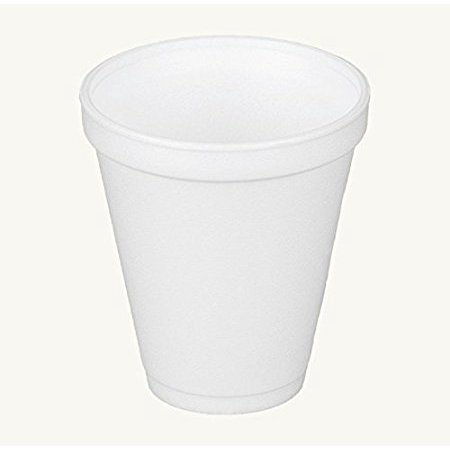 Dart 12J16, 12 Oz. White Foam Cup with White Lift'n'Lock Plastic Cup Lid, Customizable Disposable Hot and Cold Drink Beverage Tea Coffee Cups (50)