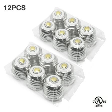 eTopLighting , 12-Pack,  E12 – E26/E27 Base Light Bulb Converter for E26 Base Sockets UL Listed Lamp Base Adapter PBT Polymer Heat Resistant , WMLS2641
