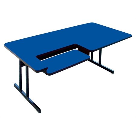 High Pressure Computer Table - Bi Level Work Station (30 in. x 48 in./Blue) ()