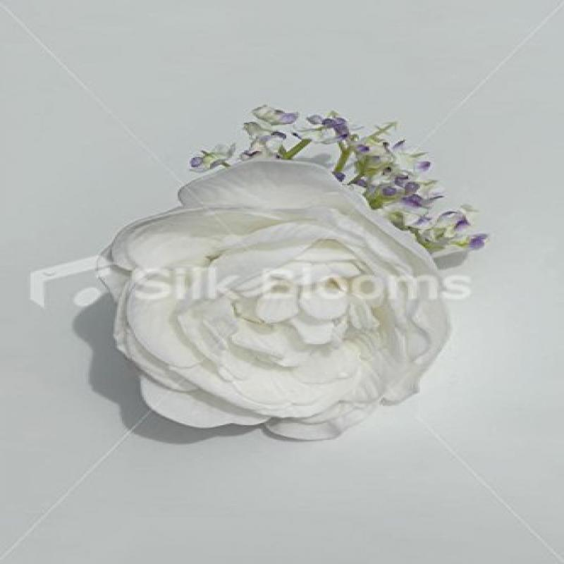 Gorgeous, White Peony & Lilac Gypsophila Bridesmaids Hair Clip