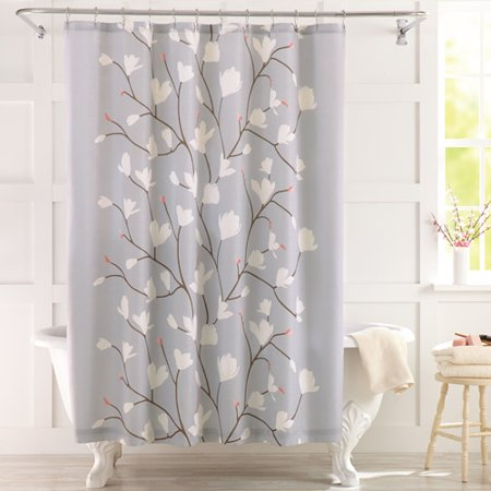 Shower Curtains cotton shower curtains : Better Homes and Gardens Cherry Blossom Fabric Shower Curtain ...
