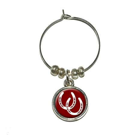 Horseshoes - Good Luck Wine Glass Charm