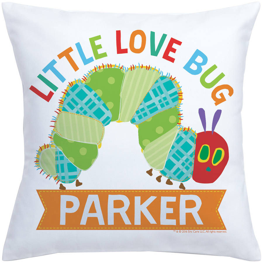 Personalized Very Hungry Caterpillar Love Bug Throw Pillow