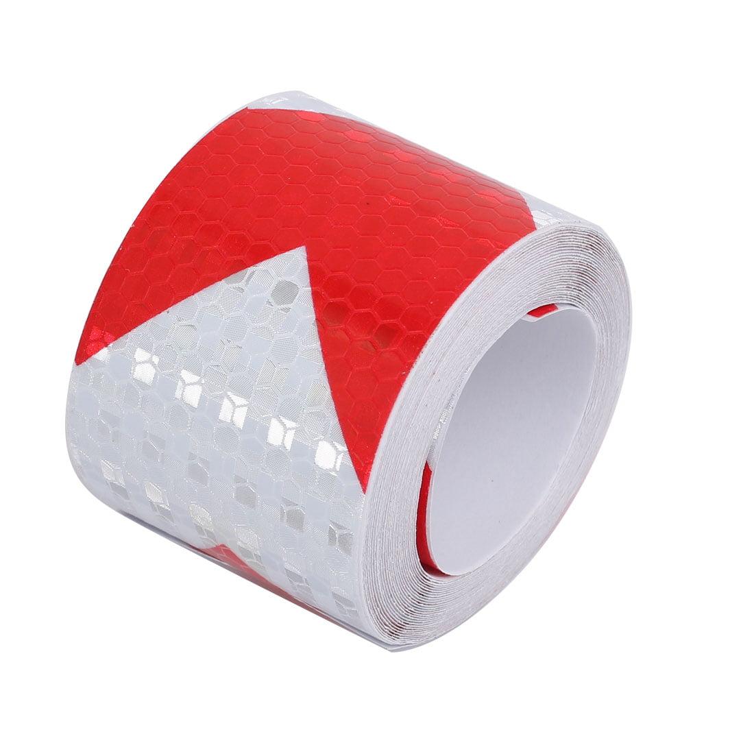 5cmx5m Honeycomb Sous-adhésif réfléchissant Avertissement Rouge Tilt Blanc - image 3 de 3