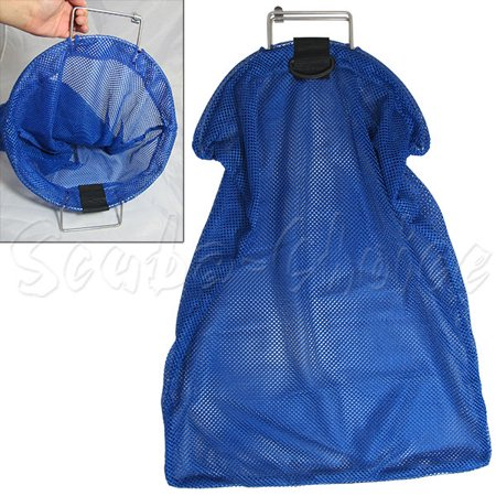 Spearfishing 5mm Stainless Steel Wire Handle Blue Fish Bag Net Mesh](Fish Netting)