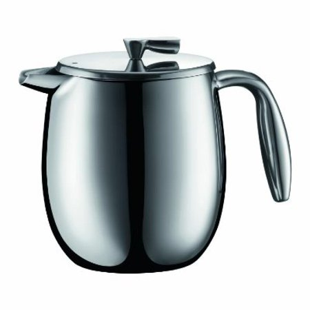 Bodum Columbia 11055 16 4 Cup Double Wall French Press Coffee Maker  0 5 Litre  17 Ounce  Stainless Steel