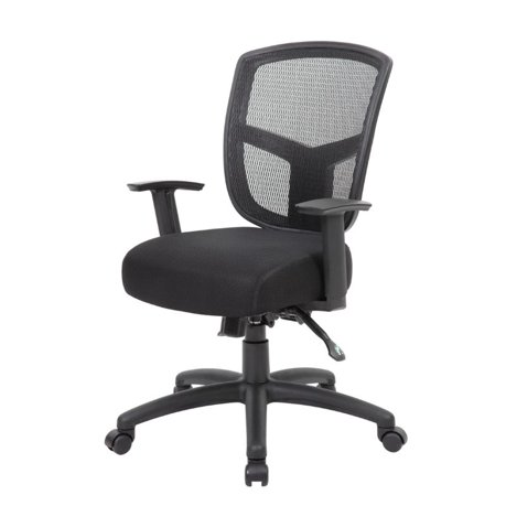 boss office contract mesh task chair in gray