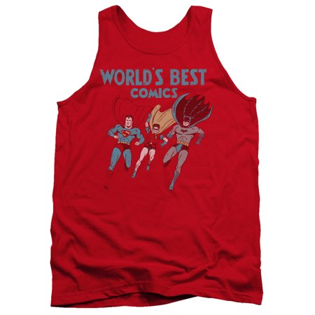 Jla - Worlds Best - Tank Top - Small (Best Small Army In The World)