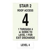 INTERSIGN NFPA-PVC1812(21A4) NFPASgn,StairId2,RoofAccssA,Flr Lvl 4 G0265067