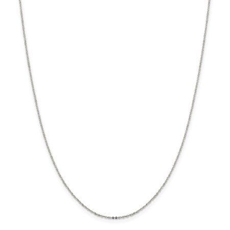 Roy Rose Jewelry Sterling Silver 1.15mm Flat Cable Chain 20