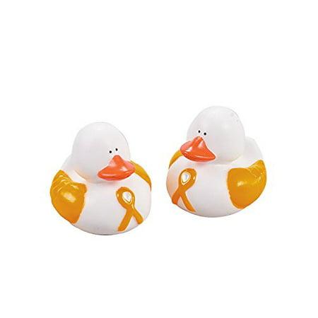 Gold Awareness Ribbon Rubber Duckies