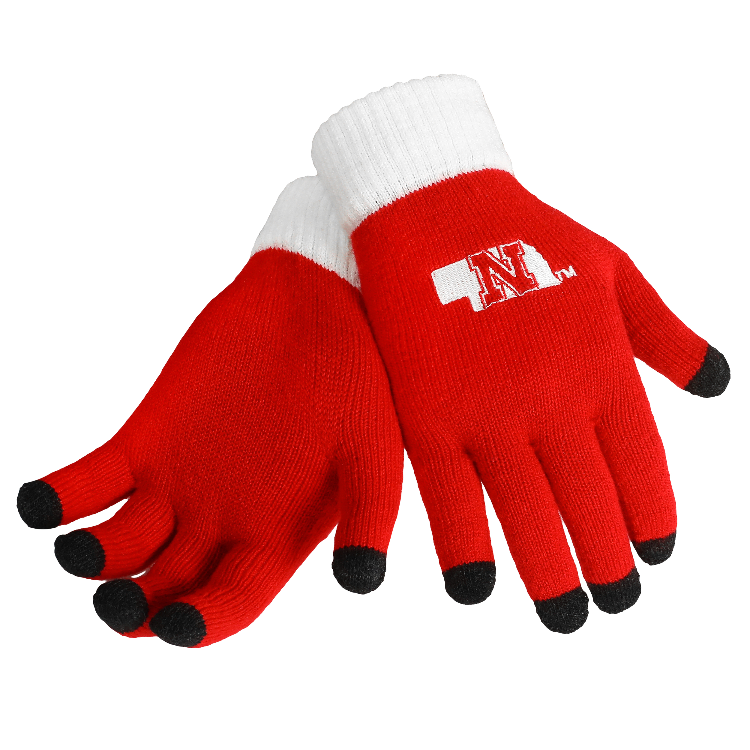 Nebraska Cornhuskers Official NCAA Glove Solid Outdoor Winter Stretch Knit by Forever Collectibles 262879 by Forever Collectibles