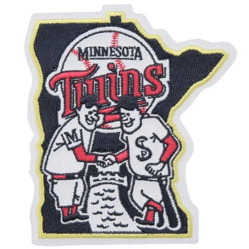 Minnesota Twins State Logo Sleeve Patch White Border (Retired)