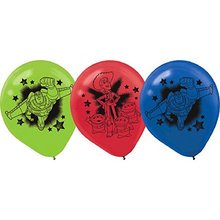 Toy Story Pack of 6 Latex Helium Quality Balloons - Power Up