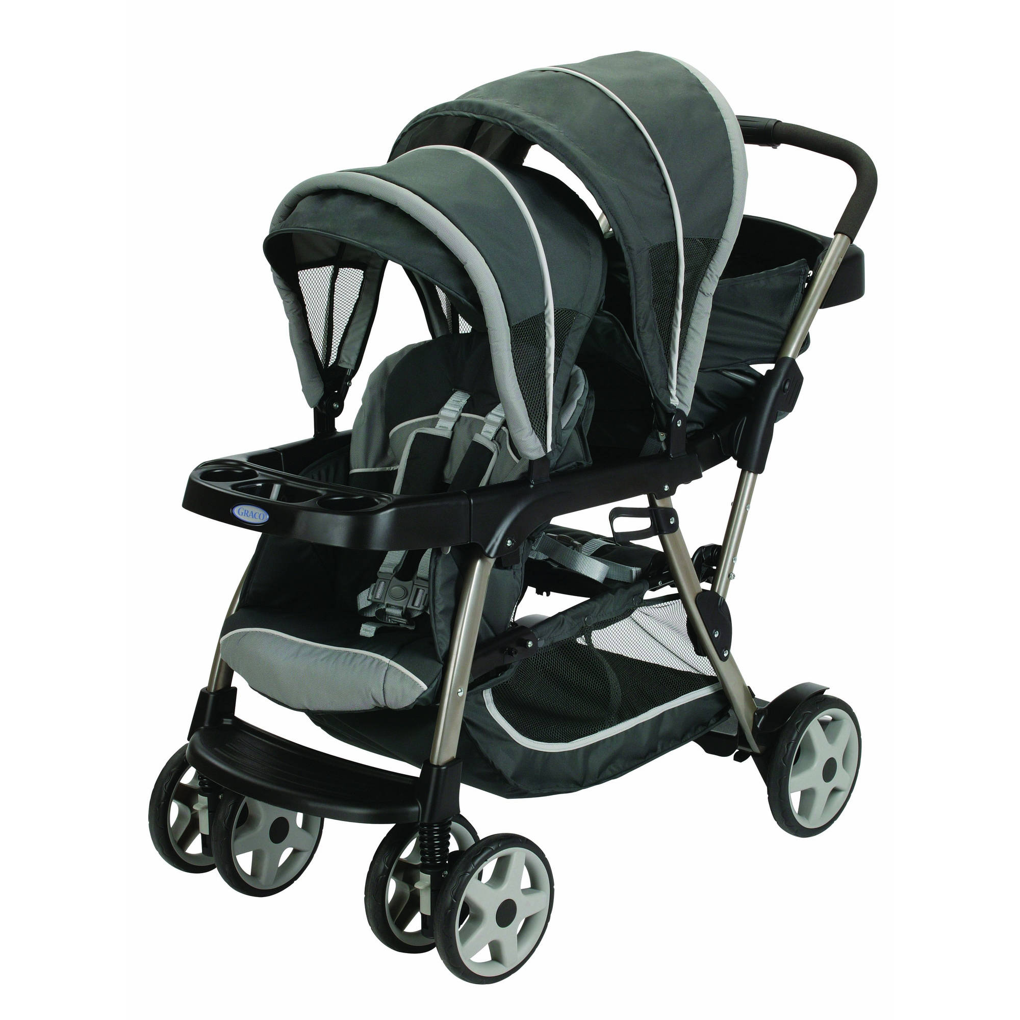 Graco Ready2Grow Click Connect LX Double Stroller, Glacier by Graco