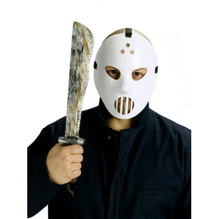 Hockey Mask And Machete Slasher Monster Accessory Set - Hockey Mask Halloween