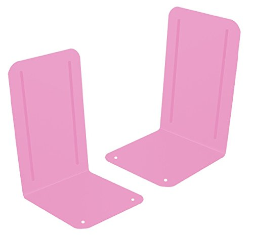 Acrimet Premium Bookends (Pink Color) (1 Pair Pack) by ACRIMET
