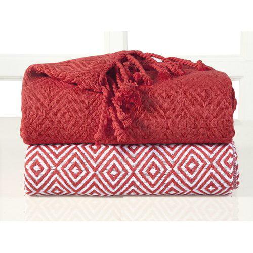 Bungalow Rose Gardin Diamond Weave Cotton Throw