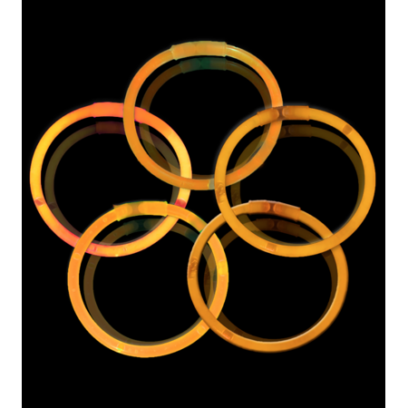 8 Glow Stick Bracelets, Orange, 500 ct](Bulk Glow Bracelets)
