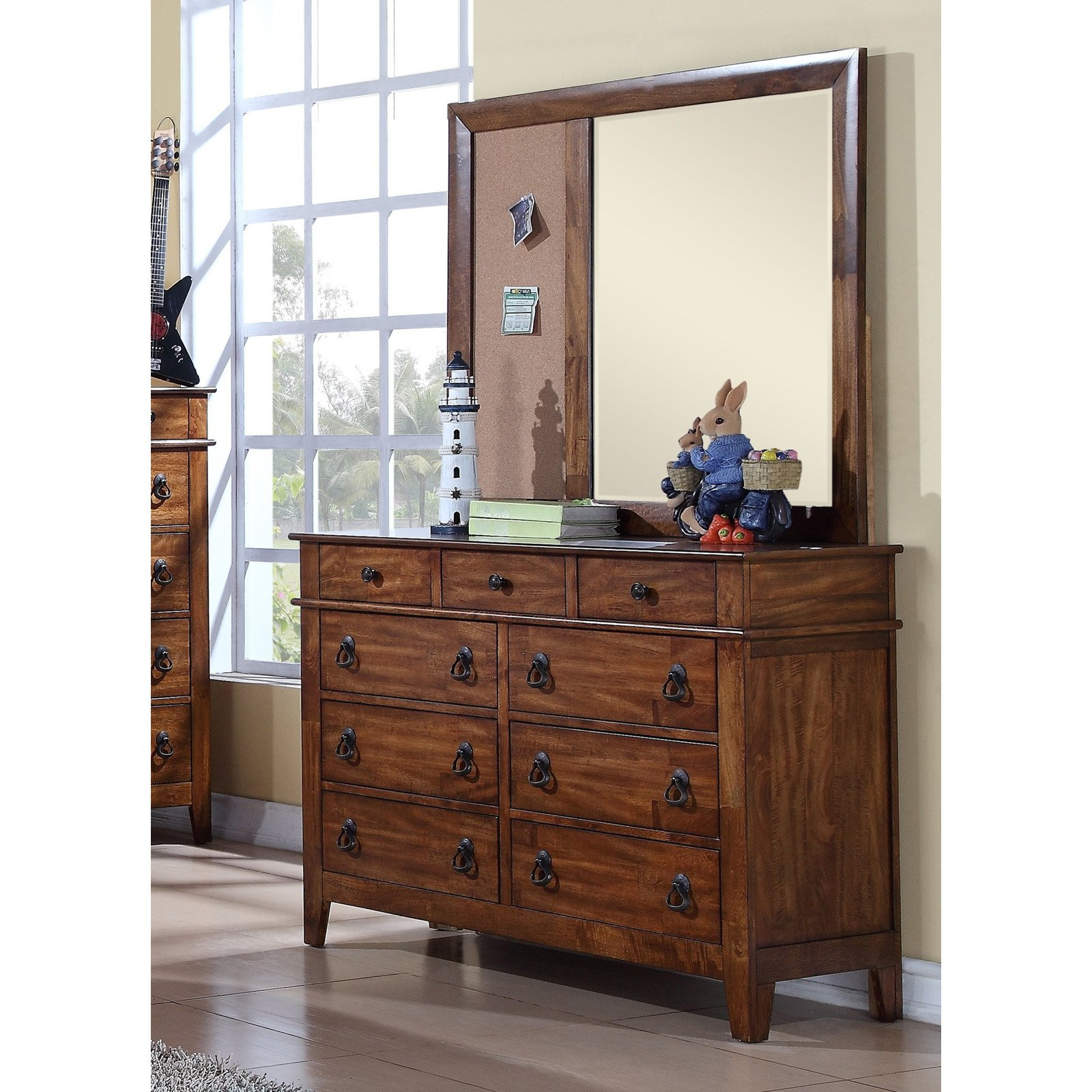 Picket House Furnishings Tucson Youth 9 Drawer Dresser - Light Brown Lacquer