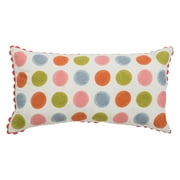 """Rizzy Home Decorative Poly Filled Throw Pillow Dots 11""""X21"""" Ivory"""