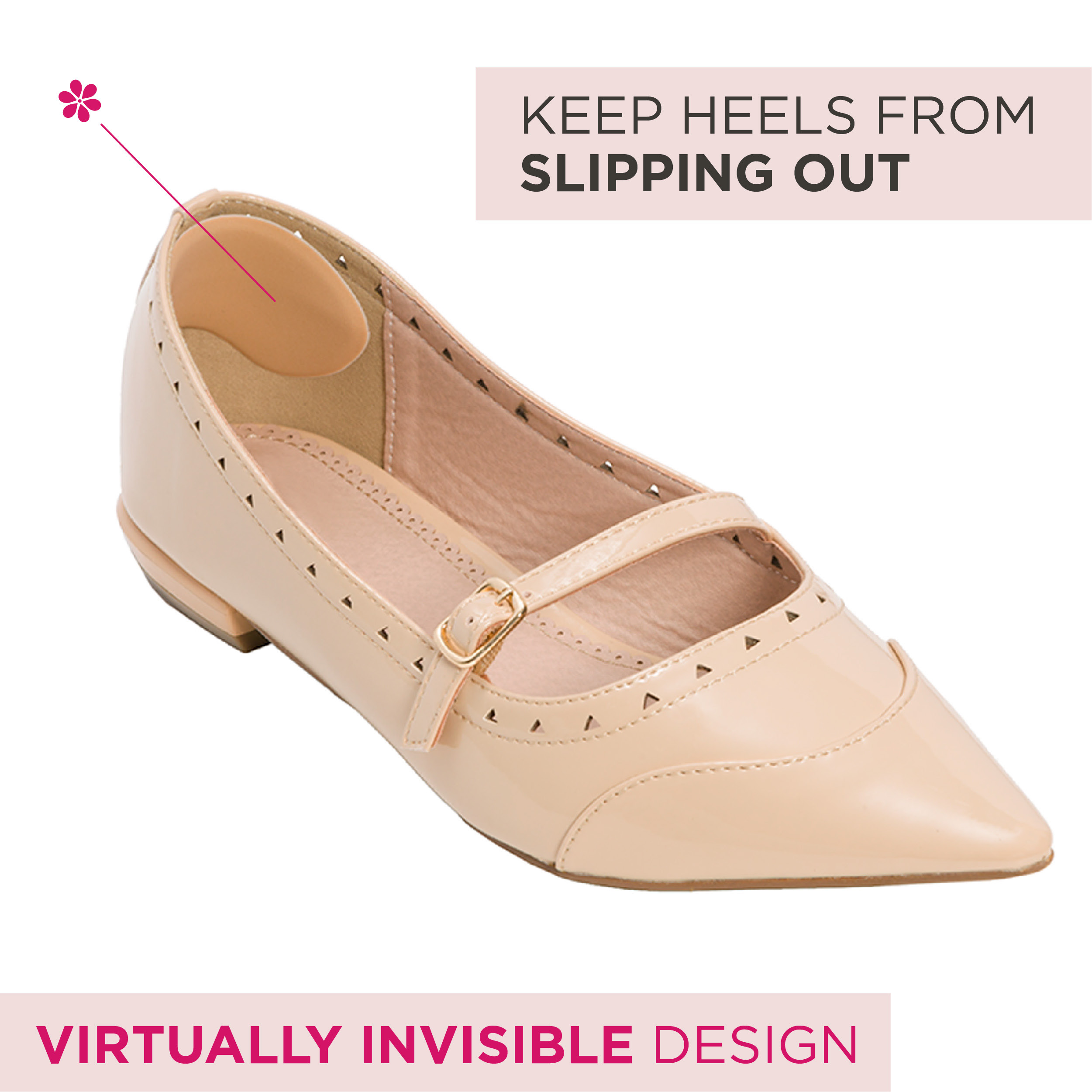Fancy Feet Back Of Heel Cushions One Pair Of Cushioned Heel Inserts To Prevent Rubbing And Blisters From Uncomfortable Shoes Khaki