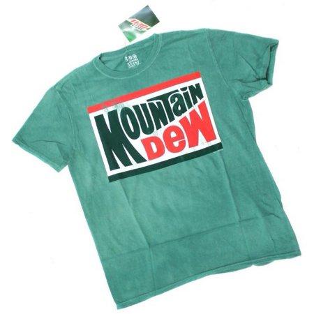 Mountain Dew Soda Pop Tee T-Shirt Classic Logo Soft Drink Beverage REX-MDEW