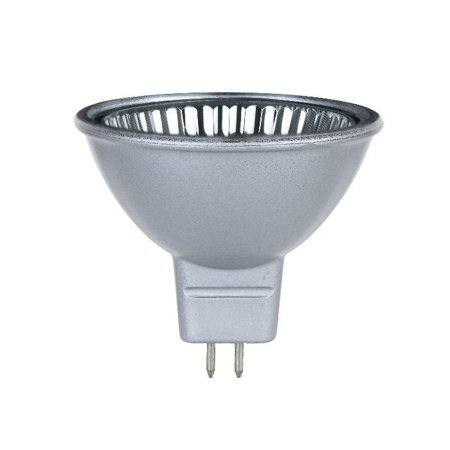 Sunlite FMW 35w 12V Silver Back MR16 Flood w/ Front Glass Halogen Light Bulb