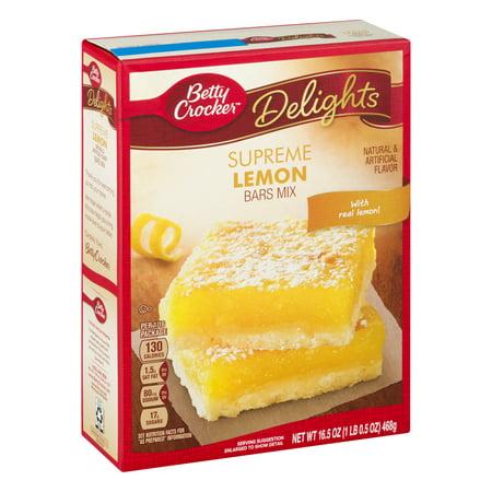 Betty Crocker 174 Delights Dessert Bar Mix Supreme Lemon 16 5