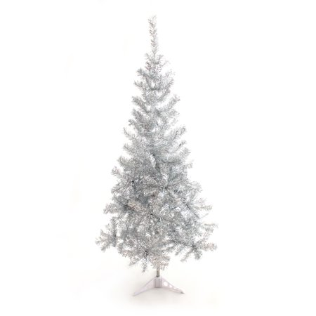 Perfect Holiday 5ft PVC Christmas Tree - Silver