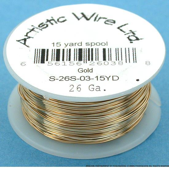 Artistic Wire Beading Craft Wrapping Gold Tone 26G 45ft