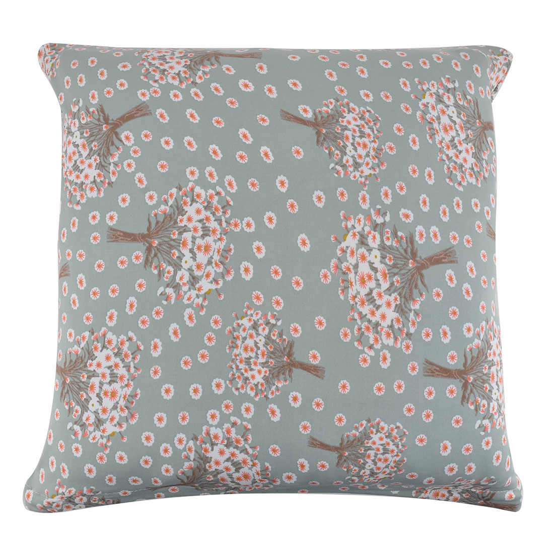 Home 18 x 18 Inches Polyester Hyacinth Print Square Pillowcase Cushion Cover
