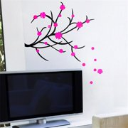 HL-931 Dancing Flowers - Wall Decals Stickers Appliques Home Decor